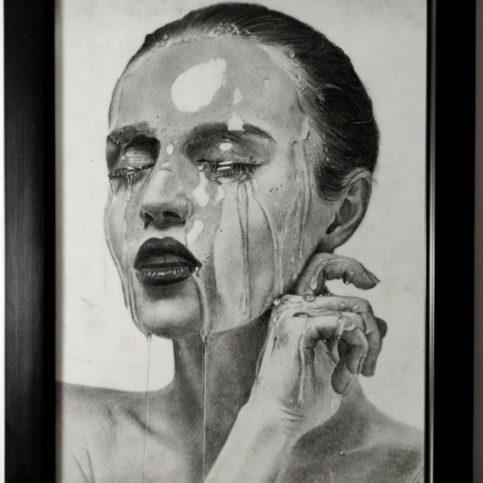 Girl Model(Water Splash on Face)