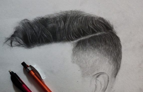 How to Draw Realistic Hair step by step tutorial