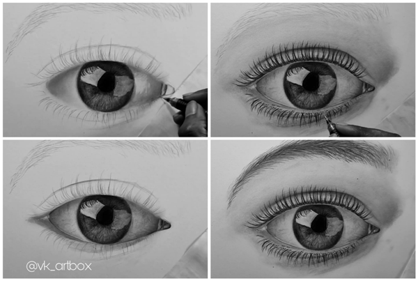 How to Draw Realistic Eye step by step tutorial