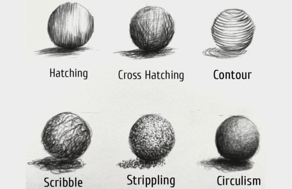 Different type of Pencil Shading Techniques