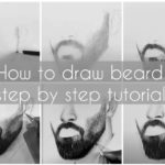 How to draw Beard, Step by step tutorial