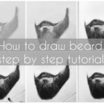 How to draw Long beard in 4 steps tutorial