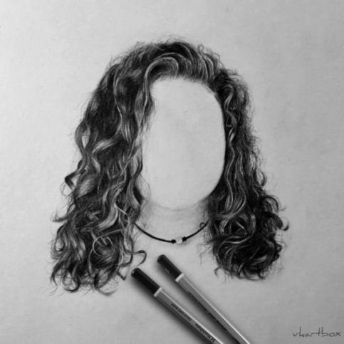 Curly hair drawing