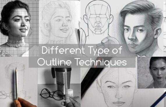 Different type of Outline Techniques in Drawing