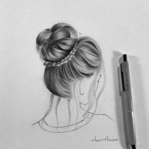 Beautiful hair drawing female