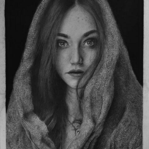 Girl Model (Hyperrealistic Drawing)