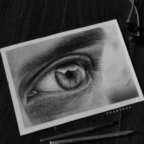 Eye drawing (Detail pencil drawing)